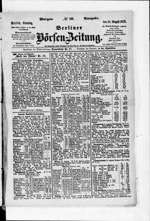 Berliner Börsen-Zeitung vom 25.08.1872