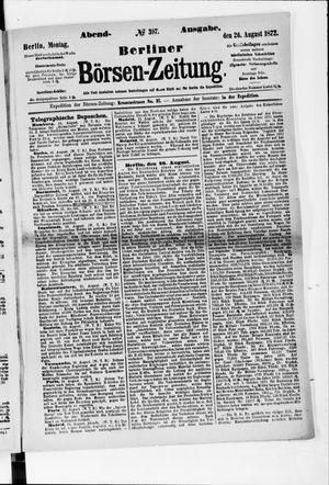 Berliner Börsen-Zeitung vom 26.08.1872