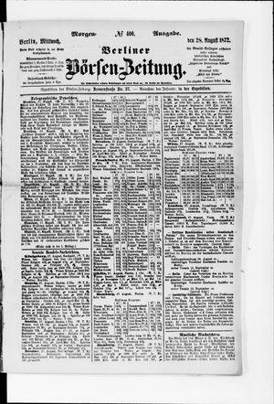 Berliner Börsen-Zeitung vom 28.08.1872