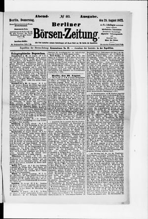 Berliner Börsen-Zeitung vom 29.08.1872