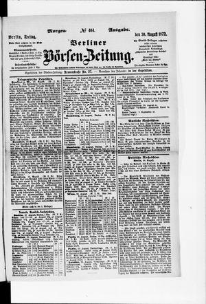Berliner Börsen-Zeitung vom 30.08.1872