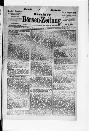 Berliner Börsen-Zeitung vom 31.08.1872