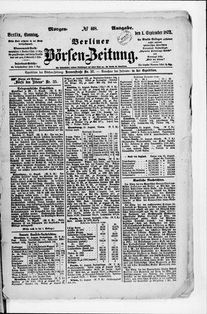 Berliner Börsen-Zeitung vom 01.09.1872