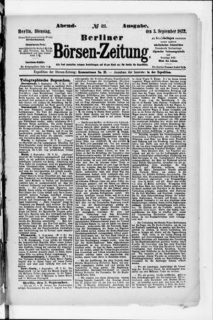Berliner Börsen-Zeitung vom 03.09.1872