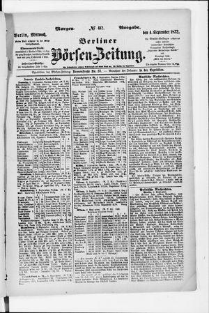 Berliner Börsen-Zeitung vom 04.09.1872