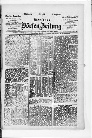Berliner Börsen-Zeitung on Sep 5, 1872