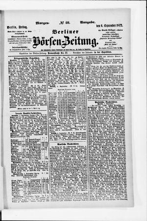 Berliner Börsen-Zeitung vom 06.09.1872
