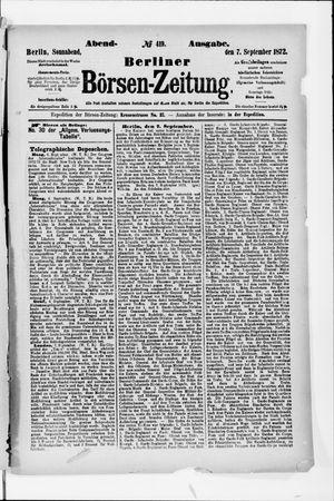 Berliner Börsen-Zeitung vom 07.09.1872