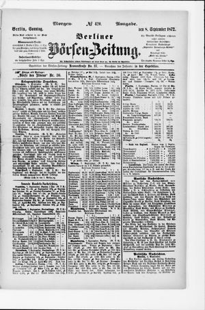 Berliner Börsen-Zeitung vom 08.09.1872