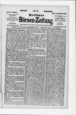 Berliner Börsen-Zeitung vom 09.09.1872