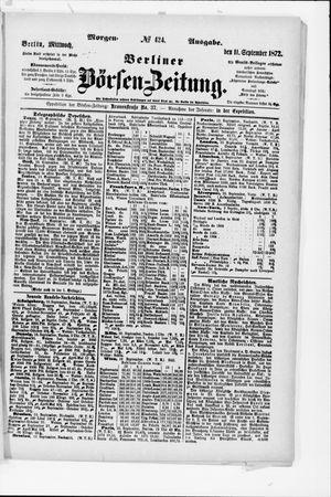 Berliner Börsen-Zeitung vom 11.09.1872