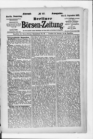 Berliner Börsen-Zeitung vom 12.09.1872