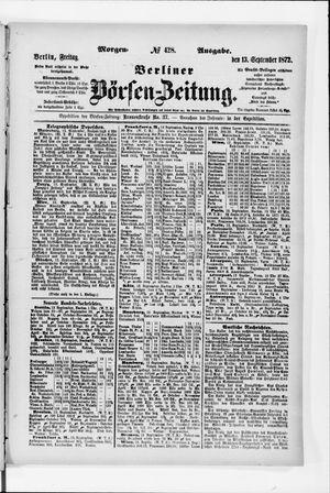 Berliner Börsen-Zeitung vom 13.09.1872