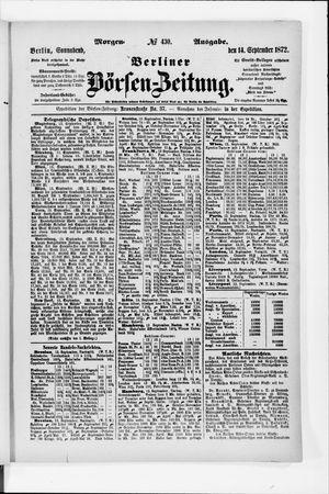 Berliner Börsen-Zeitung vom 14.09.1872