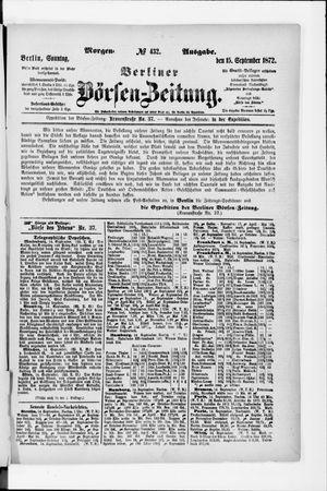 Berliner Börsen-Zeitung vom 15.09.1872