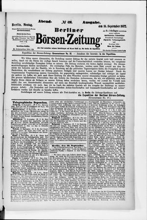 Berliner Börsen-Zeitung vom 16.09.1872