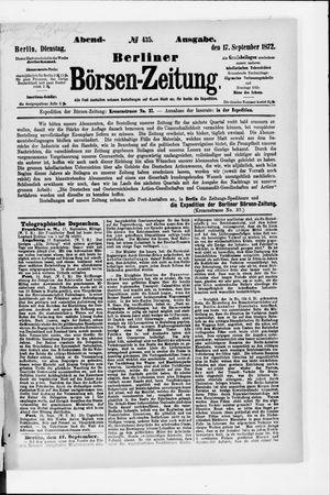 Berliner Börsen-Zeitung vom 17.09.1872