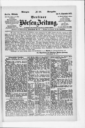 Berliner Börsen-Zeitung vom 18.09.1872