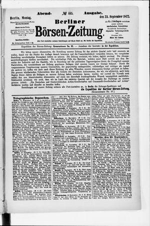 Berliner Börsen-Zeitung vom 23.09.1872