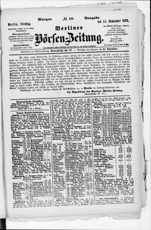 Berliner Börsen-Zeitung vom 24.09.1872