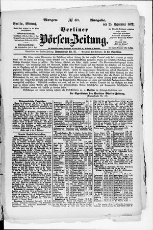 Berliner Börsen-Zeitung vom 25.09.1872