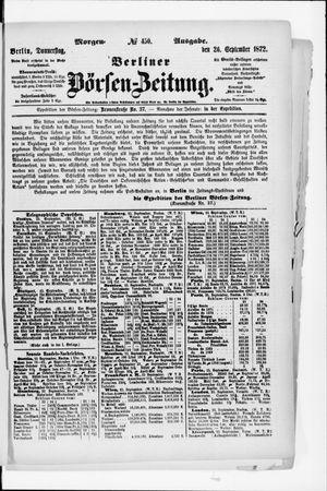 Berliner Börsen-Zeitung vom 26.09.1872