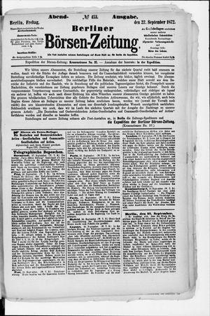 Berliner Börsen-Zeitung vom 27.09.1872