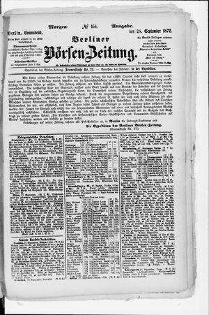 Berliner Börsen-Zeitung vom 28.09.1872
