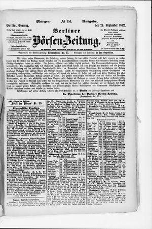 Berliner Börsen-Zeitung vom 29.09.1872