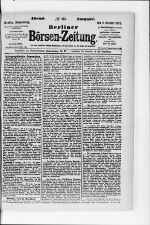 Berliner Börsen-Zeitung vom 03.10.1872