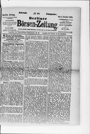 Berliner Börsen-Zeitung vom 04.10.1872