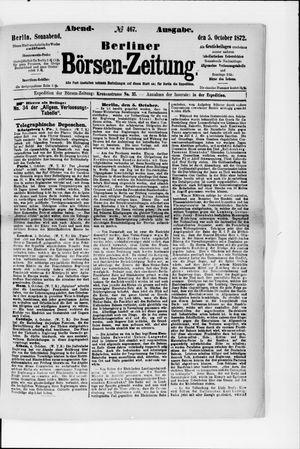 Berliner Börsen-Zeitung vom 05.10.1872