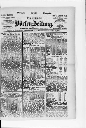 Berliner Börsen-Zeitung vom 06.10.1872