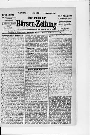 Berliner Börsen-Zeitung vom 07.10.1872