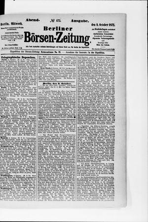 Berliner Börsen-Zeitung vom 09.10.1872