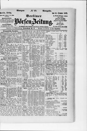 Berliner Börsen-Zeitung vom 11.10.1872
