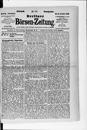 Berliner Börsen-Zeitung vom 12.10.1872