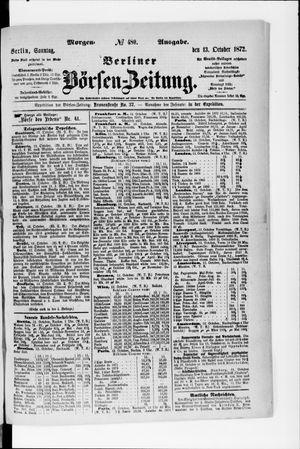 Berliner Börsen-Zeitung vom 13.10.1872