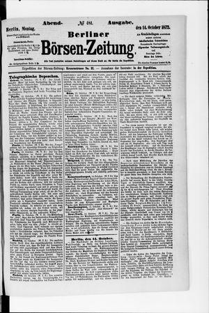 Berliner Börsen-Zeitung vom 14.10.1872