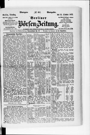 Berliner Börsen-Zeitung vom 15.10.1872