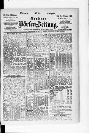 Berliner Börsen-Zeitung vom 16.10.1872
