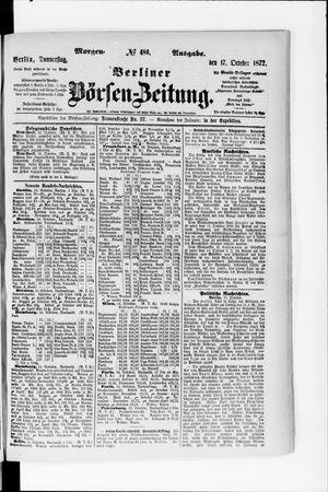 Berliner Börsen-Zeitung vom 17.10.1872