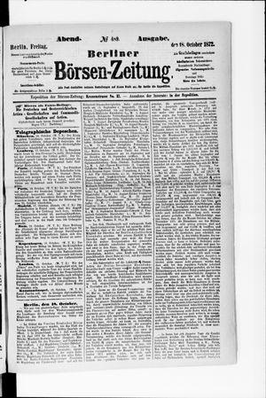 Berliner Börsen-Zeitung vom 18.10.1872