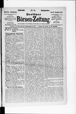 Berliner Börsen-Zeitung vom 19.10.1872