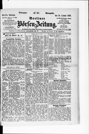 Berliner Börsen-Zeitung vom 20.10.1872