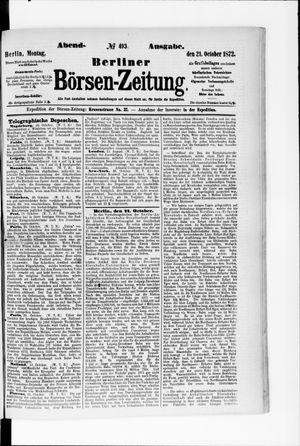 Berliner Börsen-Zeitung vom 21.10.1872