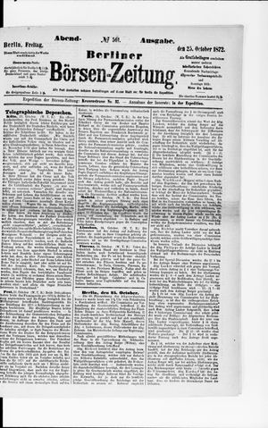 Berliner Börsen-Zeitung vom 25.10.1872