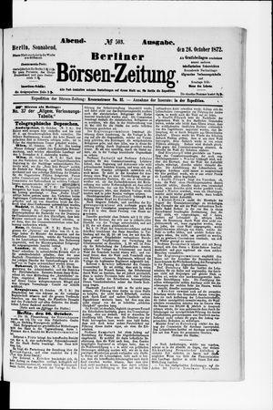 Berliner Börsen-Zeitung vom 26.10.1872