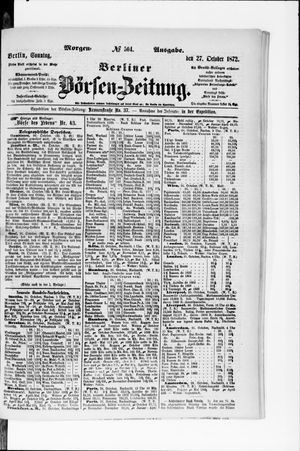 Berliner Börsen-Zeitung vom 27.10.1872