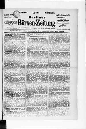 Berliner Börsen-Zeitung vom 28.10.1872